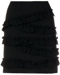 Twin Set - Ruffled Mini Skirt - Lyst