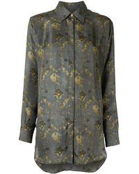 Uma Wang フローラル シルクシャツ - グリーン
