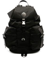 Ralph Lauren Purple Label Leather Trim Backpack - Black