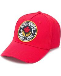 DSquared² Gorra de béisbol con parche del logo - Rojo