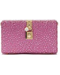 Dolce & Gabbana ビジュートリム クラッチバッグ - ピンク