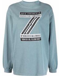 Eytys Logo Print Sweatshirt - Blue