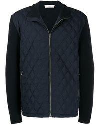 Pringle of Scotland Diamond Quilt Pattern Jacket - Blue