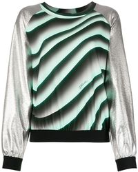 Just Cavalli Contrast-panel Knit Sweater - Green