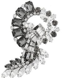 Alberta Ferretti Spilla Con Perline - Metallic