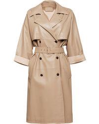 Prada Double-breasted midi coat - Neutro