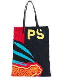 PS by Paul Smith Cheetah Print Tote Bag - Black