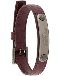 Prada - Logo Plaque Bracelet - Lyst