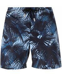 Orlebar Brown Moonlit Palms Print Shorts - Blue