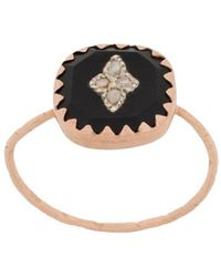 Pascale Monvoisin Pierrot Ring Aus 9 Karat Roségold Mit Bakelit® Und Diamanten - Mettallic