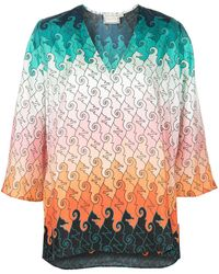 Mary Katrantzou Pathos Geometric-print Silk Blouse - Multicolor