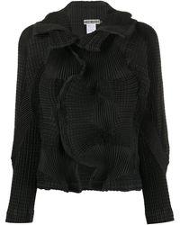Issey Miyake Cauliflower Effect Jacket - Black