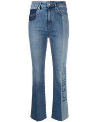 Iceberg Two-tone Kick-flare Jeans - Blue