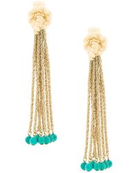 Aurelie Bidermann - Palazzo Turquoise Clip-on Earrings - Lyst