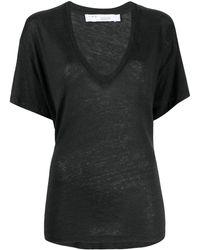 IRO Vネック Tシャツ - ブラック