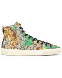 Gucci - Bengal Hi-top Sneakers - Lyst