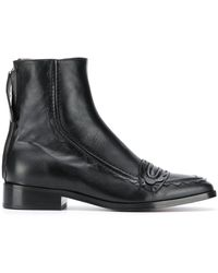ALEXACHUNG ブーツ - ブラック