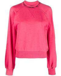 DIESEL ロゴ スウェットシャツ - ピンク