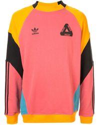 Palace X Adidas Crew Neck Sweatshirt - Pink
