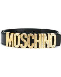 Moschino Cinturón con letras del logo - Negro