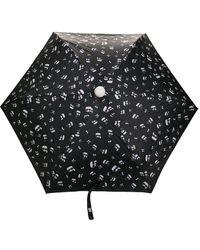 Karl Lagerfeld Mascot-print Umbrella - Black