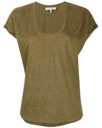 FRAME スクープネック Tシャツ - グリーン