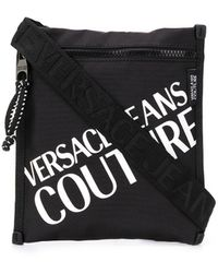 Versace Jeans Messengertas Met Logoprint - Zwart