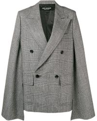 Junya Watanabe - Extra-long Sleeved Oversized Checked Jacket - Lyst