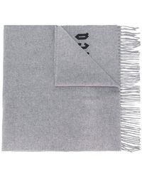 McQ - Embroidered Logo Scarf - Lyst