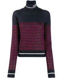 N°21 Striped Roll Neck Jumper - Red