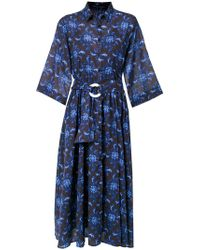 Andrea Marques - Printed Shirt Dress - Lyst