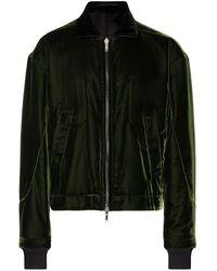 Haider Ackermann Reversible Velvet Bomber Jacket - Green