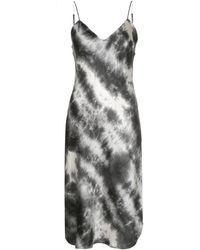 Nili Lotan Tie-dye Midi Slip Dress - Gray