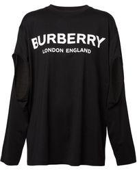 Burberry オーバーサイズ ロングtシャツ - ブラック