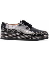 Comme des Garçons Stud-embellished Leather Oxford Shoes - Black