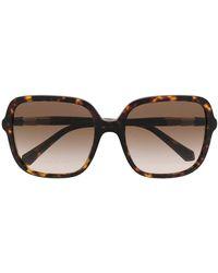 BVLGARI Солнцезащитные Очки В Массивной Оправе Черепаховой Расцветки - Многоцветный