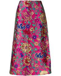 LaDoubleJ - Brocade Pencil Skirt - Lyst