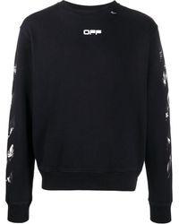 Off-White c/o Virgil Abloh Art Print Sweatshirt - Black