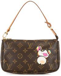 Louis Vuitton Сумка Pochette Accessories 2004-го Года - Коричневый