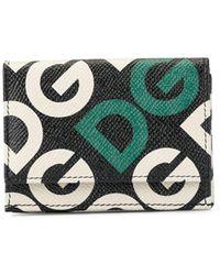 Dolce & Gabbana Logo-print Bi-fold Wallet - Black