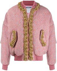 Moschino Бомбер С Вышивкой - Розовый