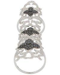 Elise Dray - Embellished Cuff Ring - Lyst