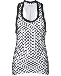 Sonia Rykiel Tanktop mit Netz-Overlay - Weiß