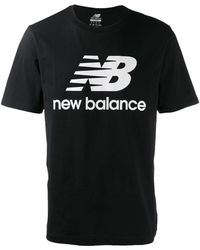 New Balance ロゴ Tシャツ - ブラック