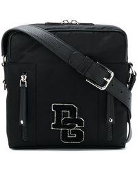 Dolce & Gabbana ロゴパッチ メッセンジャーバッグ M - ブラック
