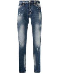 Philipp Plein Istitutional Super Straight-cut Jeans - Blue