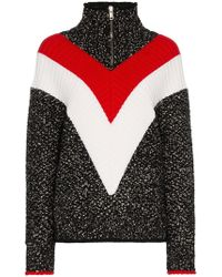 Givenchy - Chevron Stripe Zip Up Jumper - Lyst