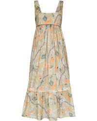 Chloé フローラル ドレス - ブラウン