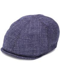 Corneliani ウーブン ベレー帽 - ブルー