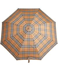 Burberry Vintage Check Folding Umbrella - Giallo